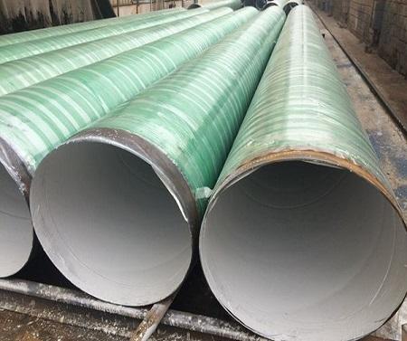 专业化工污水处理管——钛纳米高分子玻璃钢防腐复合钢管